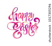 happy easter colorful paint... | Shutterstock .eps vector #1017305296