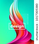 modern colorful flow poster.... | Shutterstock .eps vector #1017305380