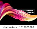 modern colorful flow poster.... | Shutterstock .eps vector #1017305383