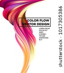 modern colorful flow poster.... | Shutterstock .eps vector #1017305386