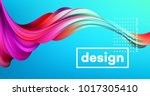 modern colorful flow poster.... | Shutterstock .eps vector #1017305410