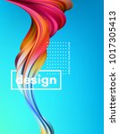modern colorful flow poster.... | Shutterstock .eps vector #1017305413