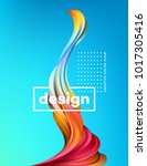 modern colorful flow poster.... | Shutterstock .eps vector #1017305416
