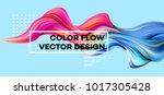 Modern colorful flow poster. Wave Liquid shape in blue color background. Art design for your design project. Vector illustration EPS10 | Shutterstock vector #1017305428