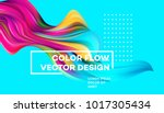 modern colorful flow poster.... | Shutterstock .eps vector #1017305434
