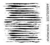big set long thin textured... | Shutterstock .eps vector #1017305899