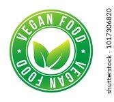 vegan food color stamp quality... | Shutterstock .eps vector #1017306820