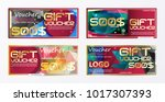 gift voucher gold template... | Shutterstock .eps vector #1017307393