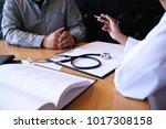 professional medical doctor in... | Shutterstock . vector #1017308158