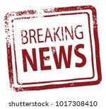 breaking news rubber stamp   Shutterstock .eps vector #1017308410