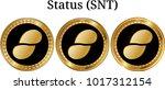set of physical golden coin...   Shutterstock .eps vector #1017312154