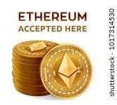 ethereum. accepted sign emblem. ... | Shutterstock .eps vector #1017314530