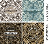 set of vintage labels with... | Shutterstock .eps vector #1017314560