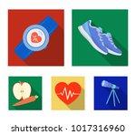 heart rhythm  vitamins and... | Shutterstock .eps vector #1017316960