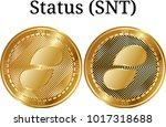 set of physical golden coin...   Shutterstock .eps vector #1017318688