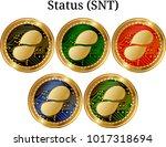 set of physical golden coin...   Shutterstock .eps vector #1017318694