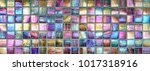 colorful square metallic tiles... | Shutterstock . vector #1017318916