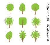 tree flat style vector isolated ... | Shutterstock .eps vector #1017322519