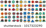 vintage retro vector logo for... | Shutterstock .eps vector #1017323290