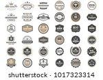vintage retro vector logo for... | Shutterstock .eps vector #1017323314
