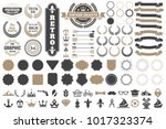 vintage retro vector logo for... | Shutterstock .eps vector #1017323374