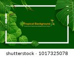 exotic tropical leaf background ... | Shutterstock .eps vector #1017325078