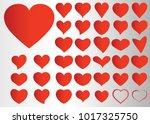 red heart vector icon... | Shutterstock .eps vector #1017325750