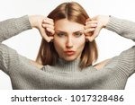 anti age procedures  art beauty ... | Shutterstock . vector #1017328486