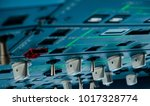 control knobs in airplane... | Shutterstock . vector #1017328774