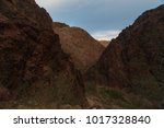 Small photo of Adventuresome hike amongst rocks on Bright Angel Trail in Grand Canyon National Park Arizona