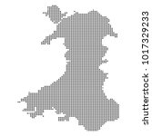 pixel mosaic map of wales on...
