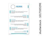 cv resume template for business ... | Shutterstock .eps vector #1017335290