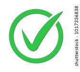 green tick. green check mark.... | Shutterstock .eps vector #1017336838
