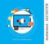 digital marketing campaign ... | Shutterstock .eps vector #1017337378