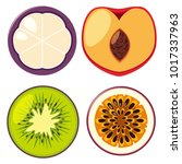 four different types of fruits... | Shutterstock .eps vector #1017337963