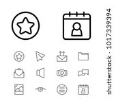 web icons set with date block ...