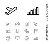 commerce icons set with bar...