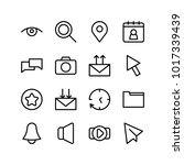 network icons set with search ...