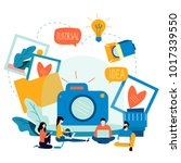 photography classes ... | Shutterstock .eps vector #1017339550