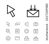 network icons set with date...