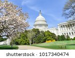 capitol building in spring time ...   Shutterstock . vector #1017340474