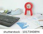 business documents graph with... | Shutterstock . vector #1017340894