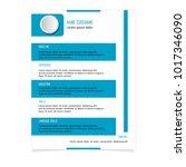 cv resume template for business ... | Shutterstock .eps vector #1017346090