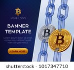 crypto currency editable banner ... | Shutterstock .eps vector #1017347710