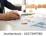 data analyzing. close up of... | Shutterstock . vector #1017349780