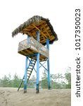 baywatch tower on the coast of...   Shutterstock . vector #1017350023