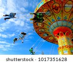 amusement park ride      | Shutterstock . vector #1017351628