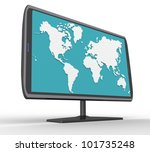 3d widescreen tft display with... | Shutterstock . vector #101735248