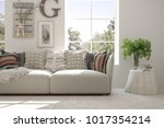 idea of white room with sofa... | Shutterstock . vector #1017354214
