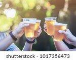 celebration beer cheers concept ... | Shutterstock . vector #1017356473